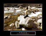 Peace: Yoga Affiche