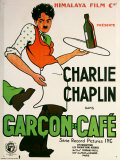 Charlie Chaplin Garcon De Cafe Plechová cedule