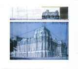 Wrapped Reichstag, Project for Berlin Prints by Christo
