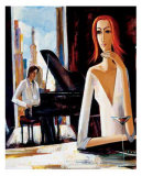 At Piano Bar Posters by Shana 