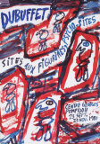 Sites aux Figurines Psycho-Sites Samletrykk av Jean Dubuffet