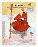 Papy Pechou au Basket Posters by Hubert Rublon