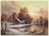 Winter in Belarus II Posters af Helmut Glassl