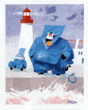Papy Pechou au Phare Prints by Hubert Rublon
