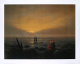 Mondaufgang Am Meer Prints by Caspar David Friedrich