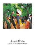 Promenade 1913 Art by Auguste Macke