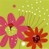 Vert Fleur Rose Posters by Olivia Cosneau
