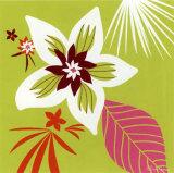 Vert Fleur Blanche Prints by Olivia Cosneau