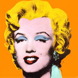 Marilyn Impresso de peas de colees por Andy Warhol