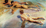 Children on the Beach Prints by Joaqu&#237;n Sorolla y Bastida