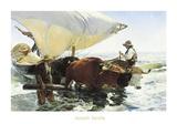 Retorno de la Pesca, Remolcando la Barca Posters by Joaquín Sorolla y Bastida