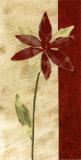 Fleur Rouge I Art by Luisa Tosini