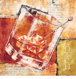 Scotch Highball Prints by Stefania Ferri