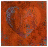 Cuore Orange Prints by Roberta Ricchini