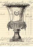 Paris Urn Sketch Prints by  Z Studio