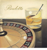 Roulette Casino Poster by Paulo Romero