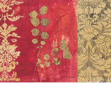 Gilded Damask Prints by Matina Theodosiou
