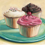 Three Cupcakes Posters by Ian Mclean