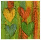 Cuore Jaune Rosa Prints by Roberta Ricchini