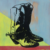Cowboy Boots Prints by Lucinda Lewis