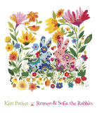 Romeo and Sofia the Rabbits Poster par Kim Parker