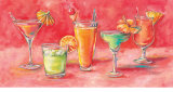 Summer Cocktails Prints by Catherine Richards