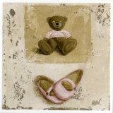 Nounours Rose et Chaussures Posters par Véronique Didier-Laurent