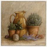 Cruche et Pot de Romarin Affiche par Vincent Perriol