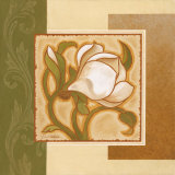 Golden Magnolia I Print by Gloria Eriksen
