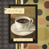 Drinking French Vanilla Coffee Prints by Carol Robinson