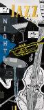 Nächtlicher Jazz|Jazz Nightly Kunstdrucke von Katherine & Elizabeth Pope