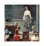 Happy Birthday Miss Jones Giclee Print by Norman Rockwell