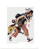 Rosie to the Rescue Giclee Print by Norman Rockwell