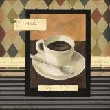 Drinking Mocha Coffe Art by Carol Robinson