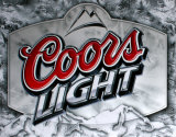 Coors Light Frosted Cartel de chapa