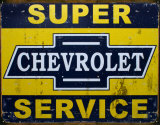Super Chevy Service Cartel de chapa