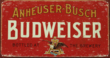 Budweiser Plaque en métal