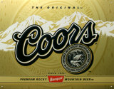 Coors Label Tin Sign