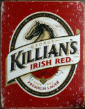 Bière Killians Irish Red Plaque en métal