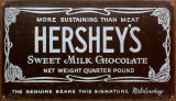 Hershey's Old Label Plaque en métal