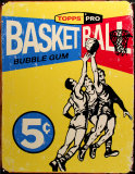 Topps Basketball 1957 Tin Sign