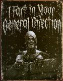 Holy Grail General Direction Plechová cedule