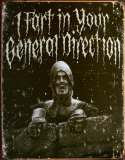 Holy Grail General Direction Tin Sign
