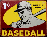 Topps Baseball 1959 Plaque en m&#233;tal