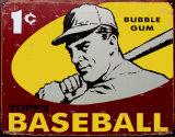 Topps Baseball 1959 Plaque en métal