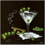 Martini Limbo Prints by Michael Godard