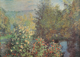 Le Jardin des Hoschede Prints by Claude Monet