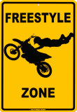Freestyle zone Plaque en métal