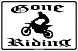 Gone Riding Tin Sign