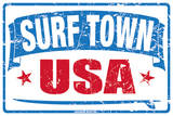Surf City USA Tin Sign